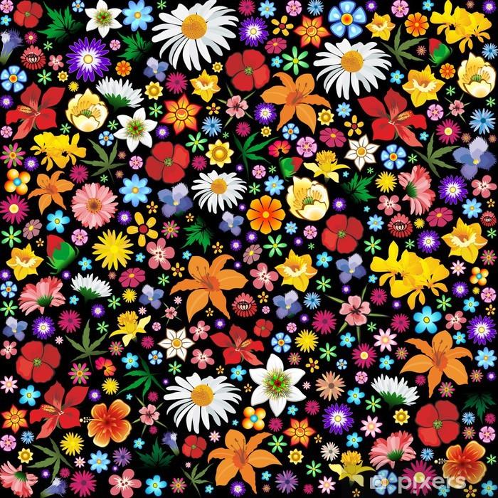 Spring And Summer Flowers Pattern Fiori Primavera Sfondo Wall Mural