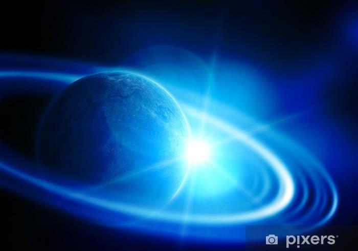Papier peint vinyle Réaliste Saturne en espace ouvert - Planètes