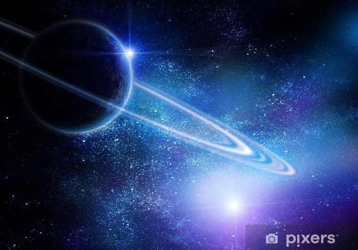 Naklejka Pixerstick Realistyczne saturn w otwartej przestrzeni - Wszechświat