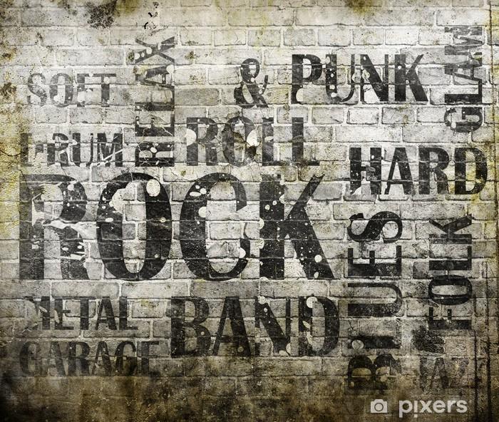 Pixerstick Sticker Grunge rock muziek poster - Rock