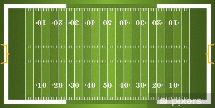 Fototapeta winylowa Textured Trawa American Football Field - Artykuły sportowe