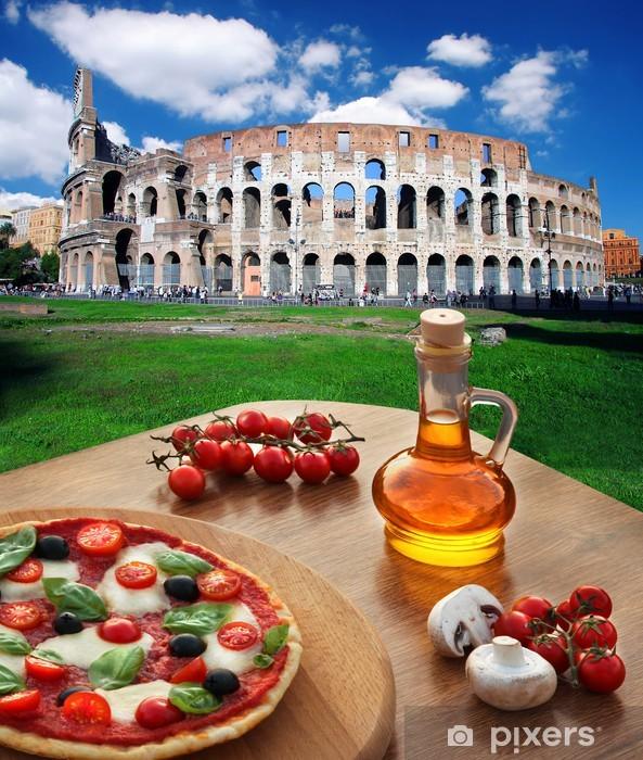 Papier peint vinyle Colisée avec de la pizza italienne à Rome, Italie - Thèmes