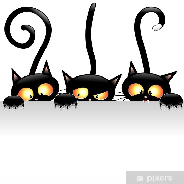 Fototapeta winylowa Śmieszne koty koty śmieszne kreskówki z panelem panelu -