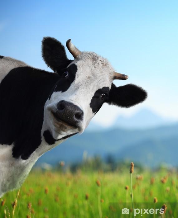 Cow Pixerstick Sticker -