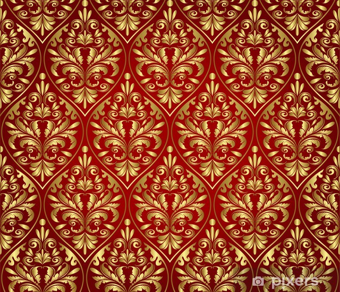 Naklejka Pixerstick Bezszwowe wzór wiktoriański - Tła