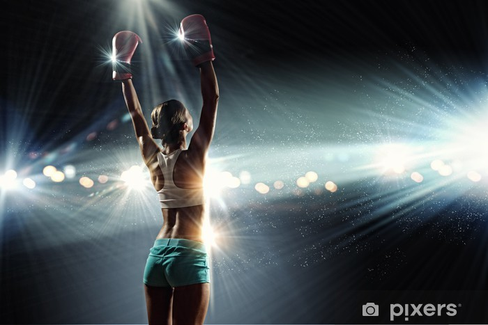 Fototapet av Vinyl Unga boxare kvinna - Teman