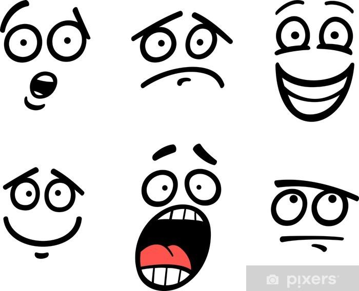 Fototapeta Smajlik Nebo Emoce Nastavit Kreslene Ilustrace Pixers