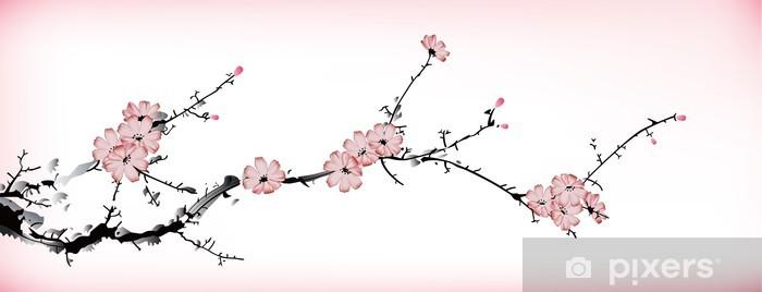 Naklejka Pixerstick Kwiat malowanie - Tematy