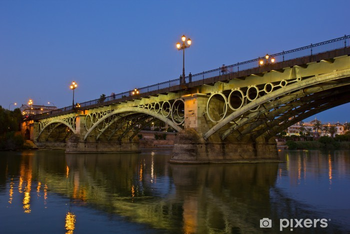 Papier peint vinyle Pont de Triana, le plus ancien pont de Séville - Europe