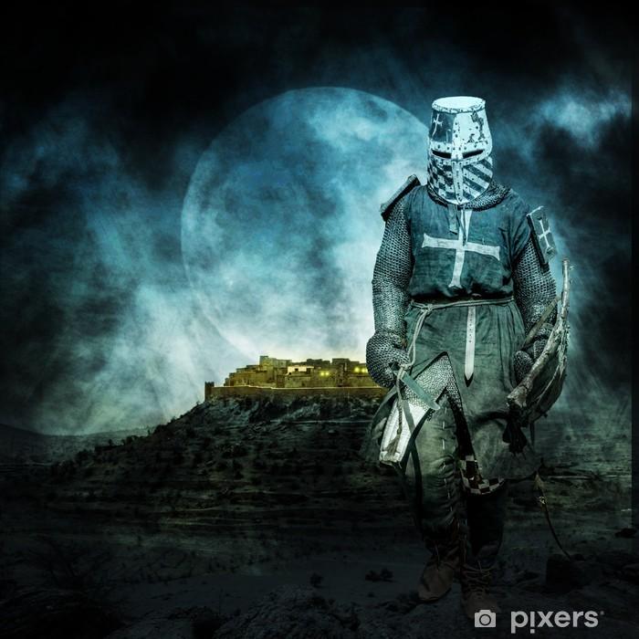 Naklejka Pixerstick Medieval krzyżowiec - Rycerze