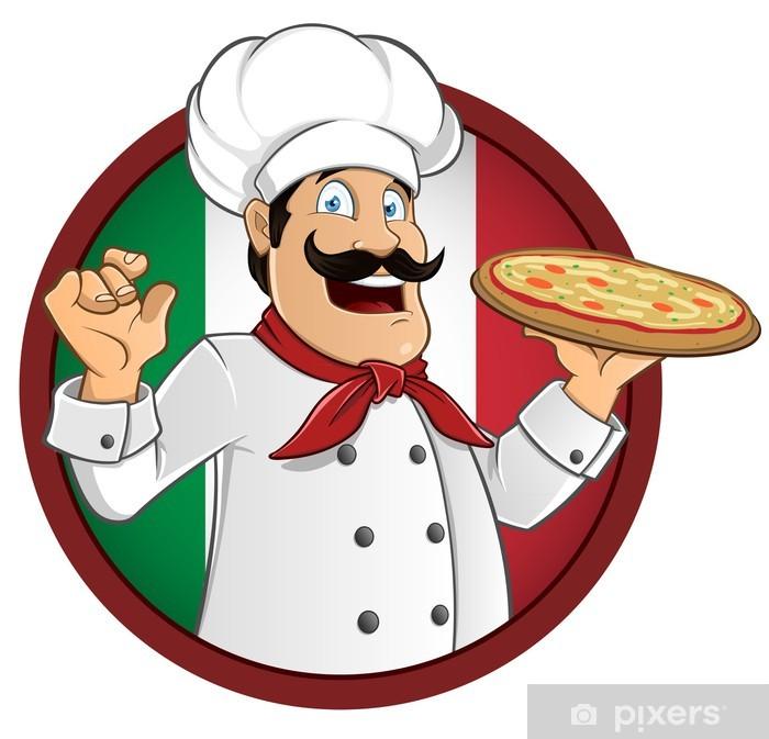 Zirni Man Chef Cook Pizza Sticker Decal Design