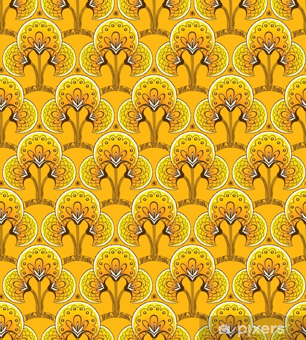 Mural de Parede Lavável Yellow Seamless background - Fundos