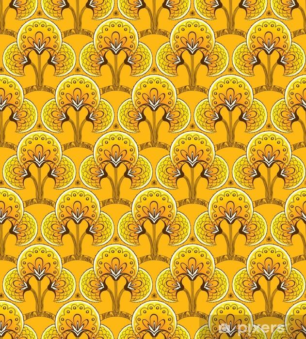 Keltainen saumaton tausta Vinyyli valokuvatapetti - Taustat