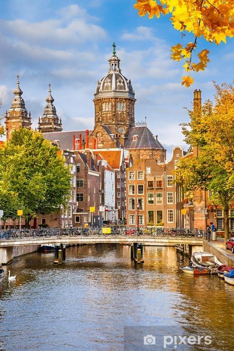 Fototapeta winylowa St. Nicolas Church w Amsterdamie - Miasta europejskie