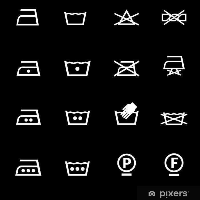 Sticker Pixerstick Icônes de lavage mis en - Internet et réseaux