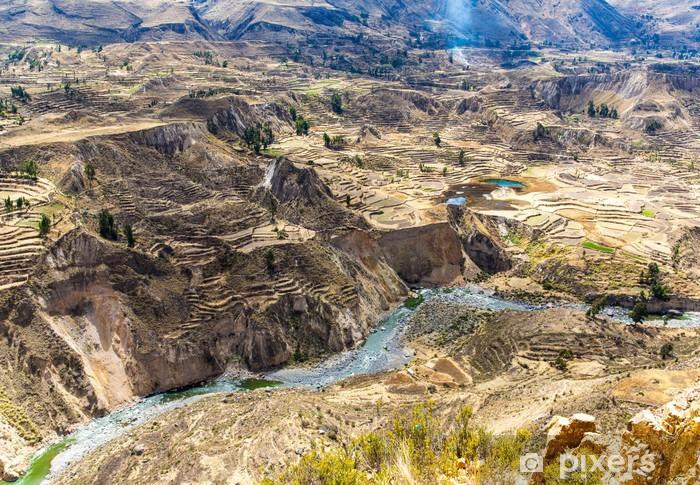 Fotomural Estándar Cañón del Colca, Perú, América del Sur. Incas construir terraza Agricultura - Temas