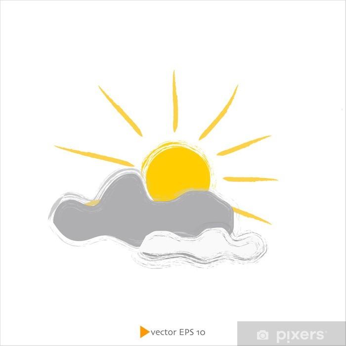 Vinyl-Fototapete Sonne und Wolken - Urlaub