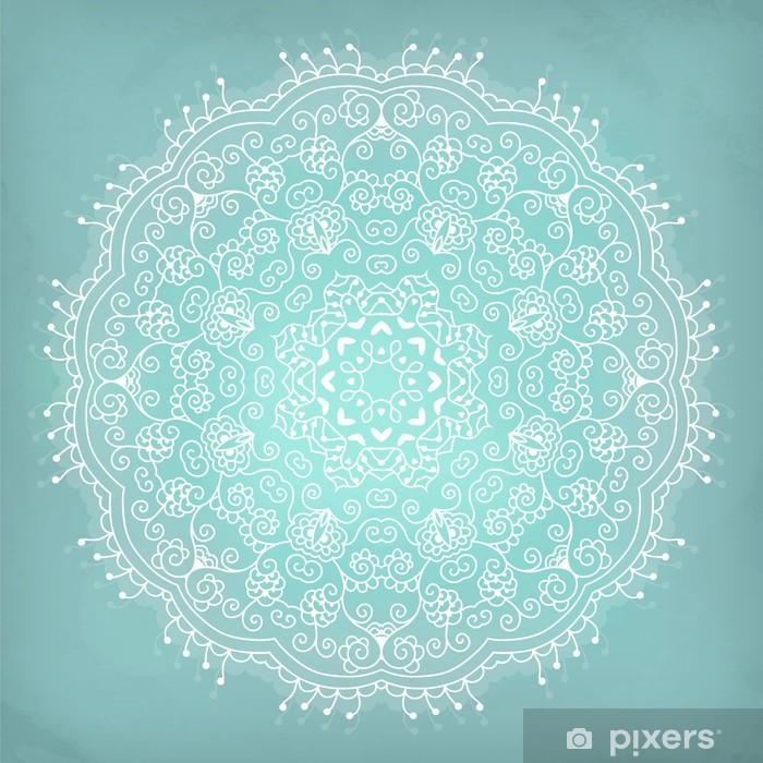 Poster Arabesque. Mandala. Kant etnische ornament in een cirkel. - Stijlen