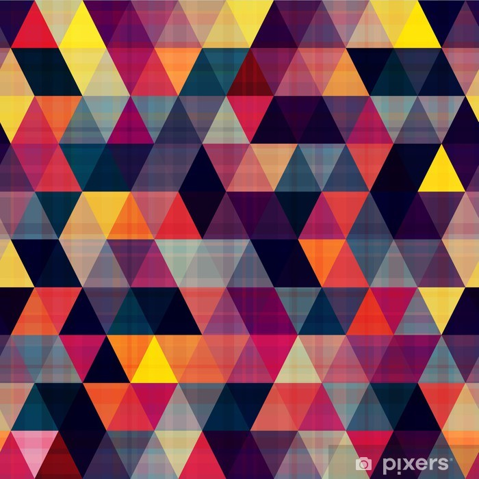 seamless triangle background Vinyl Wall Mural - Geometry