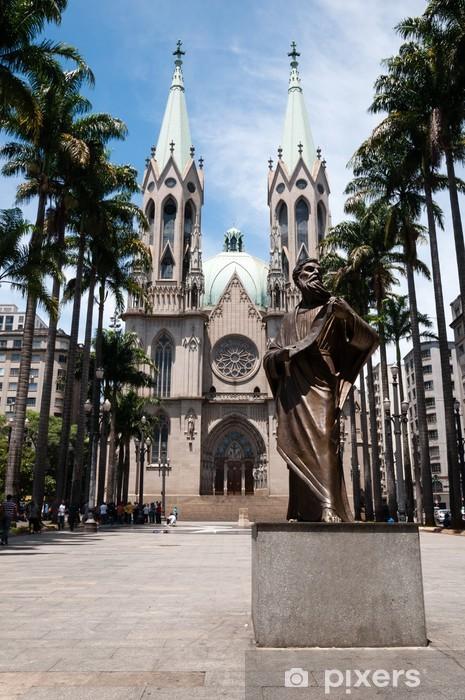 Naklejka Pixerstick Katedra Se, Sao Paulo - Miasta amerykańskie