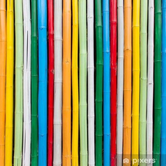 Sticker Pixerstick Bambou coloré pour le fond - Thèmes