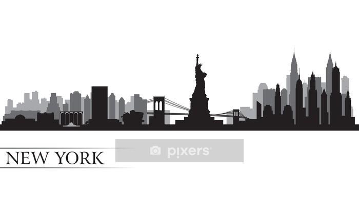Adesivo da Parete New York skyline della città silhouette dettagliate - Adesivo da parete