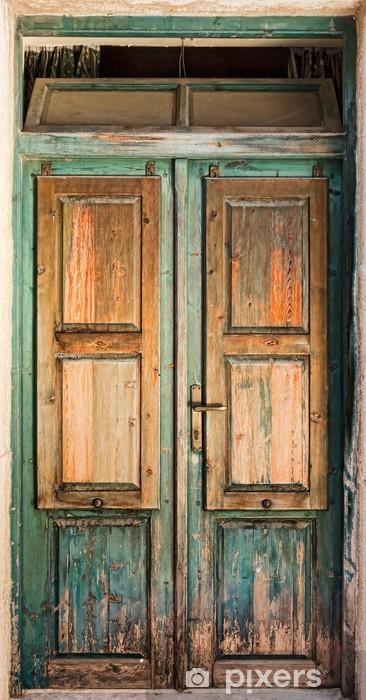 Naklejka Pixerstick Stare drewniane drzwi -