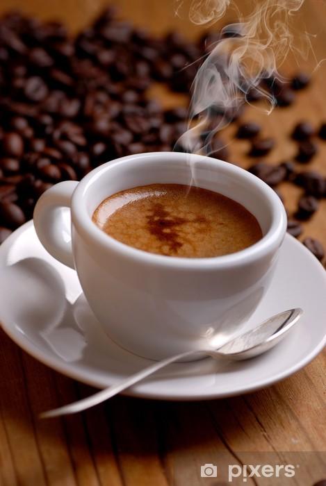 Papier peint vinyle Café espresso dans une tasse blanche - Thèmes