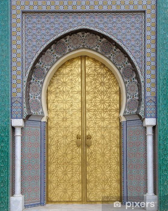 Naklejka Pixerstick Starożytni drzwi, Maroko - iStaging