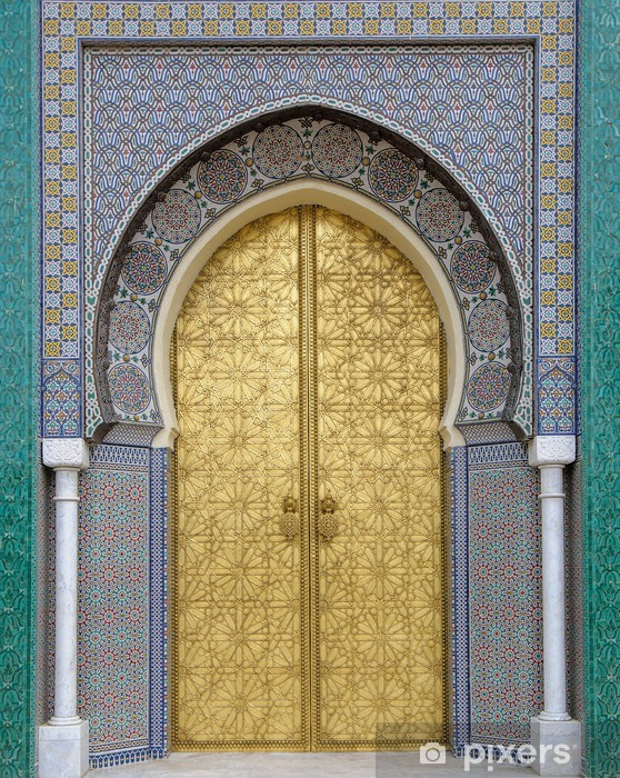 Ancient doors, Morocco Vinyl Wall Mural - iStaging