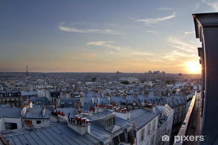 Naklejka Pixerstick Dachy Paryża - Miasta europejskie