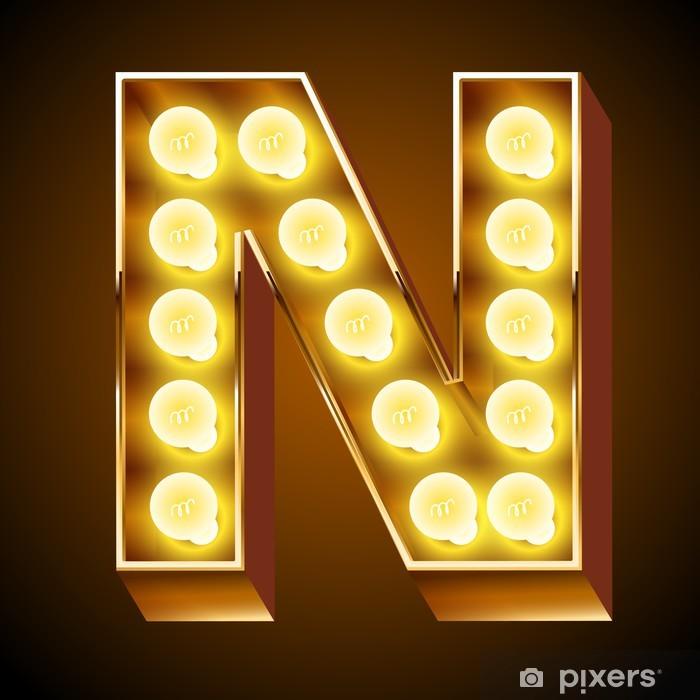 Plakát Staré lampy abeceda pro lehké desky. Písmeno N - Témata