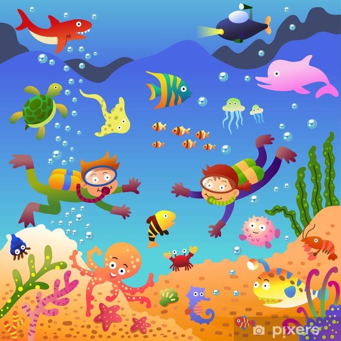 Under the sea Pixerstick Sticker - Themes