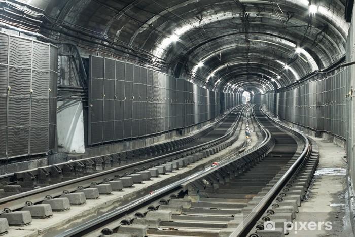 Pixerstick Sticker Lege metro tunnel - Thema's