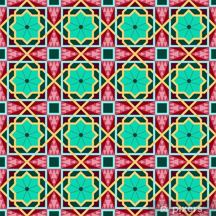 Naklejka Pixerstick Wschodnia tradycyjnych ornament, wschód szwu. Geometryczny - Tła