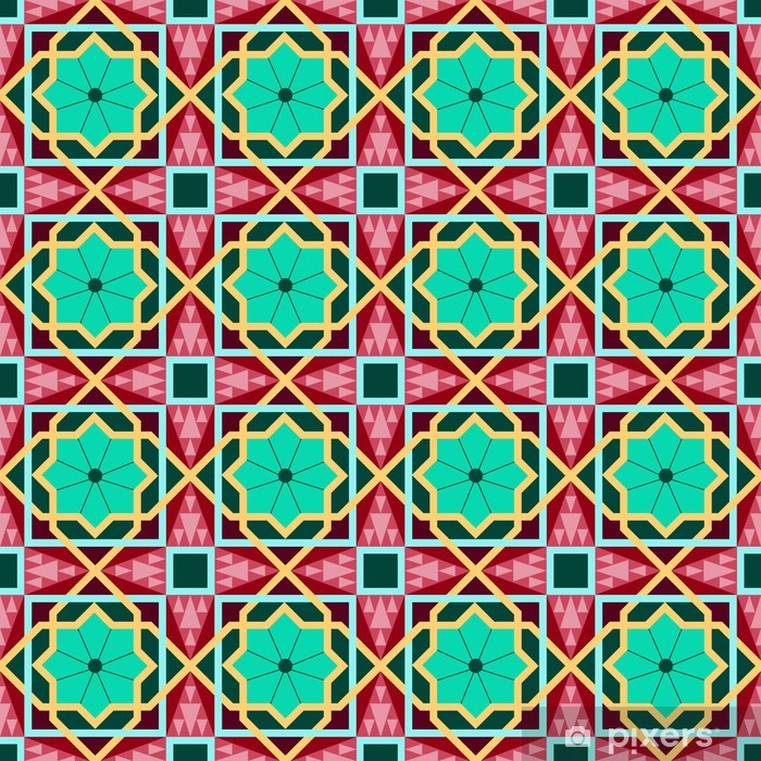 Oriental traditional ornament, east seamless pattern. Geometric Vinyl Wall Mural - Backgrounds