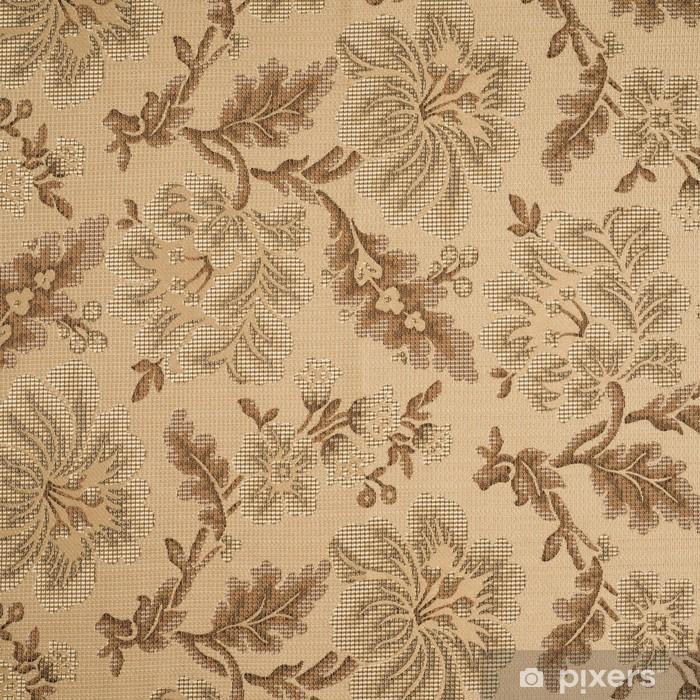 Papier peint vinyle Fabric background avec motif floral - Fleurs
