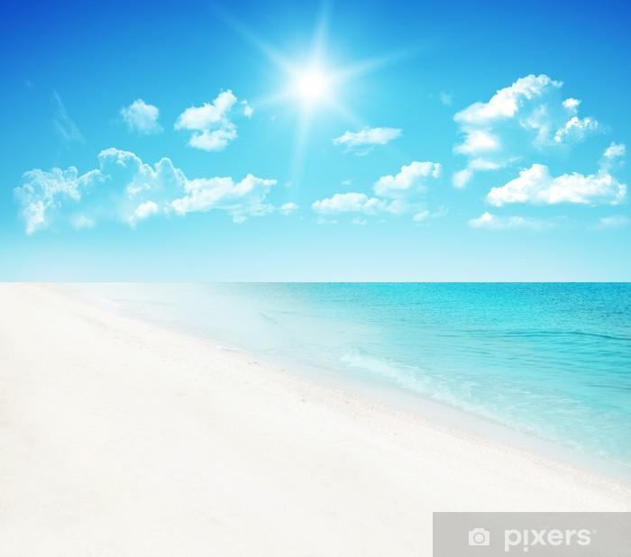 Póster Playa de fondo. - Cielo