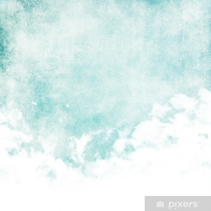 Fototapeta winylowa Kolor wody jak chmura na tle starego papieru tekstury - Style
