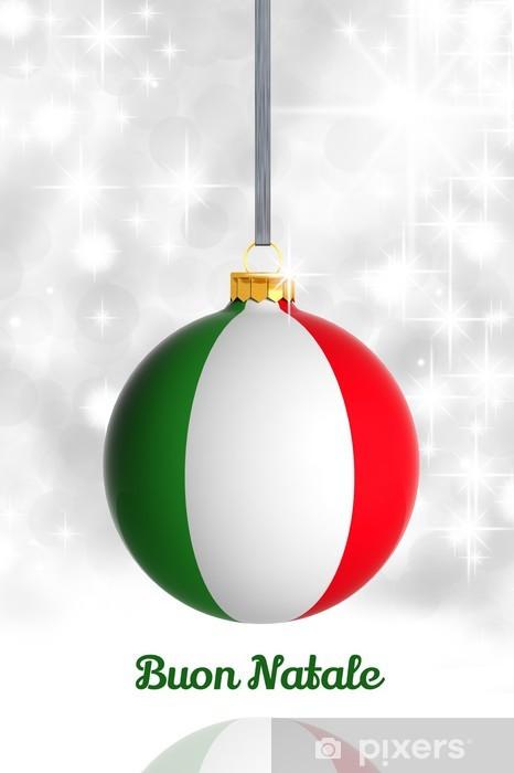 Buon Natale Italia.Adesivo Buon Natale Da Italia Pallina Di Natale Con Bandiera Pixers Viviamo Per Il Cambiamento