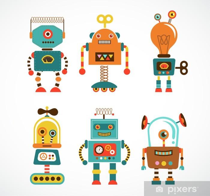 Naklejka Pixerstick Zestaw klasycznych ikon robotów - Style