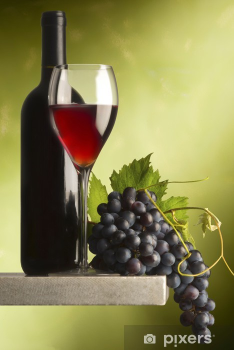 Sticker Pixerstick Vin rouge - Thèmes