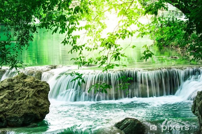 Naklejka Pixerstick Głębokie lasu wodospad w Tajlandii - Tematy