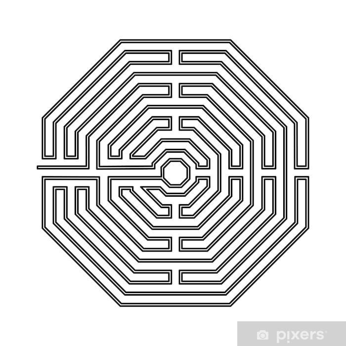 Carta da Parati in Vinile Amiens Labyrinth - Successi e Conquiste