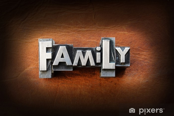 Nálepka Pixerstick Třída - Rodinný život