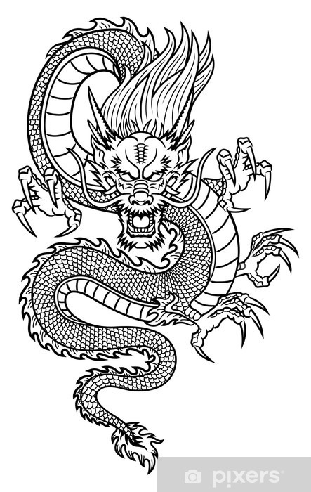 Chinese Dragon Vinyl Wall Mural - Wall decals