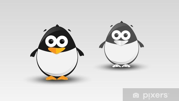 Vinyl-Fototapete Cartoon-Pinguin in Vektor-Illustration - Vögel