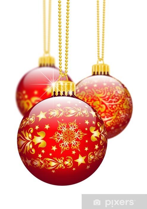 Christbaumschmuck Weihnachtskugel Dekoration Textur Rot 3d Wall