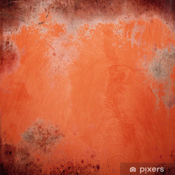 Naklejka Pixerstick Fondo arancio grunge ścianie - Tematy