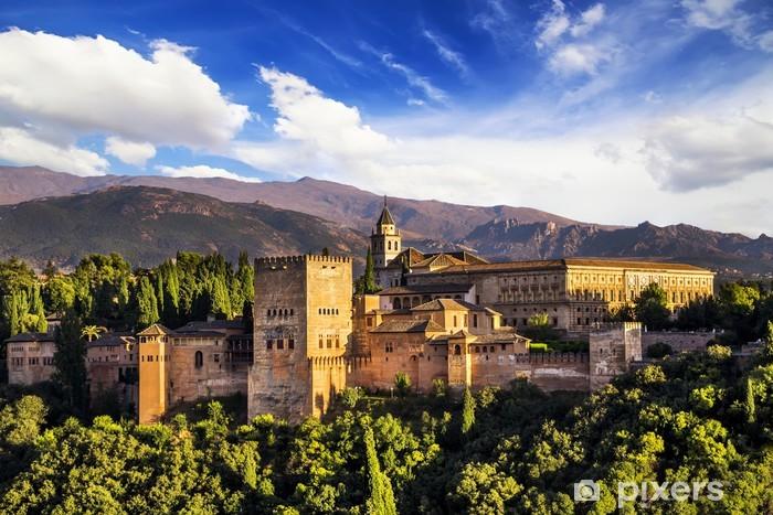 Sticker Pixerstick Ancienne forteresse arabe de l'Alhambra, Grenade, Espagne. - Thèmes